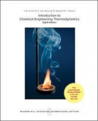 Image of Introduction to Chemical Engineering Thermodynamics 8ed